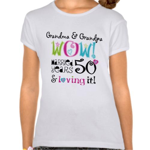 Wedding T Shirt Ideas: 50th Anniversary Funny Wow Married Loving It T-Shirt