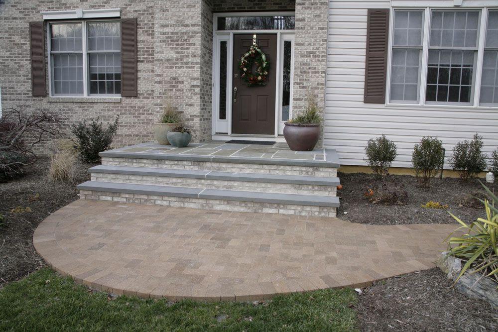 Brick And Bluestone Steps | ... Bluestone Caps Outdoor Furniture Brick Patio  With Masonry