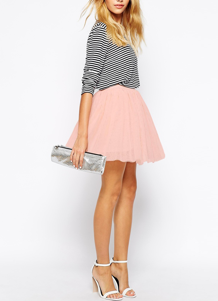 Style Inspirations Jupe Courte Blanche Jupes Mode Jupe Patineuse Rose