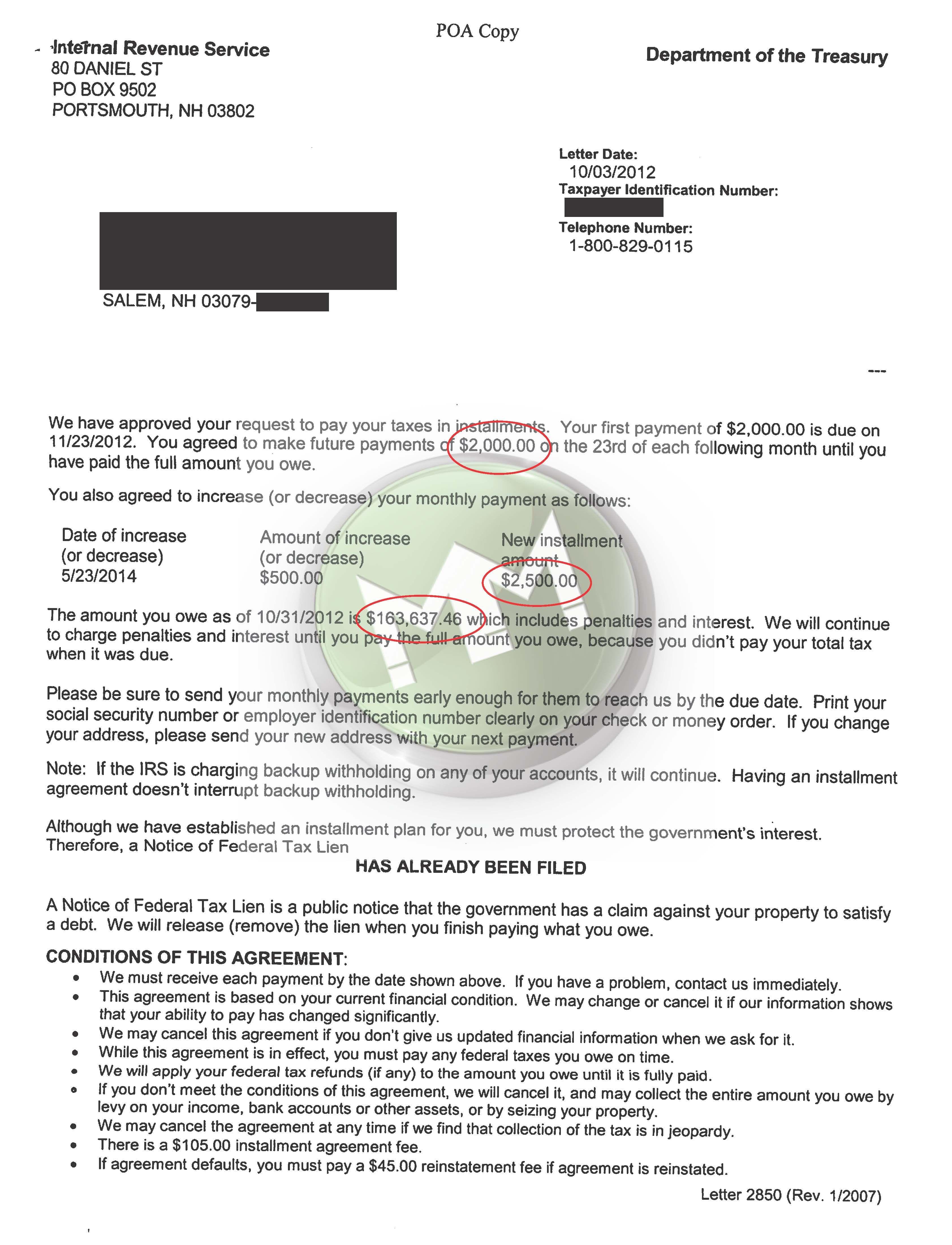 IRS Installment Agreement Salem, NH MM Financial