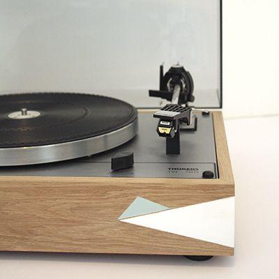 Platine Vinyle Restauration Nantes Thorens Td166 En Chene Massif Audiopasdeloup Turntable Vintage Record Players