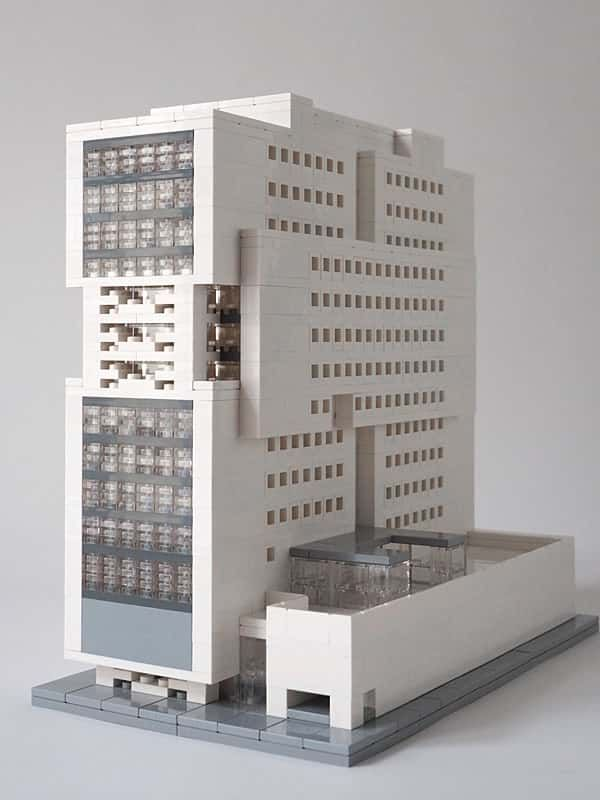 Architektur mit LEGO Architecture with LEGO bricks. (con