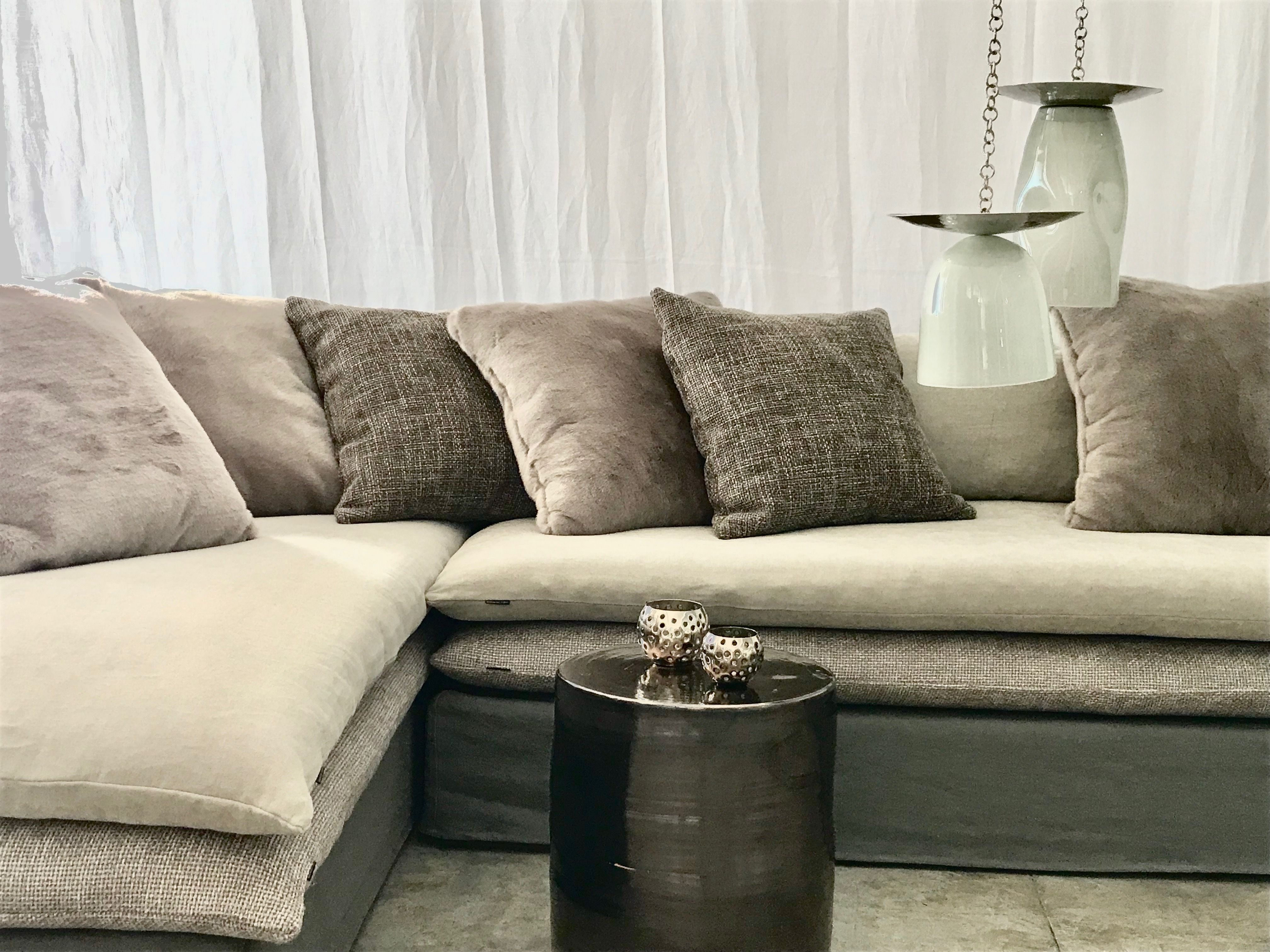Canape Sur Mesure D Angle Lin Lave Beige Sable Canape Angle Canape Marocain Moderne Deco Salon Marocain