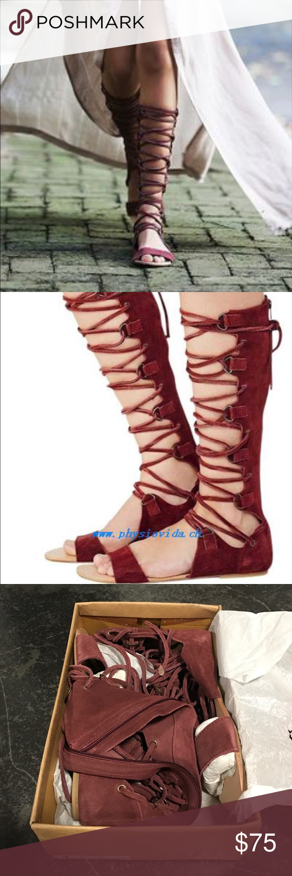 🆕 Free People Gladiator Sandals in Ox Blood 👣 Brand new in box! Free People Gladiators in Ox Blood (gorgeous color!!). Women's size 9. Lace up so it will fit almost all calf sizes. Smoke and pet free home. Thanks for looking! Free People Shoes Sandals