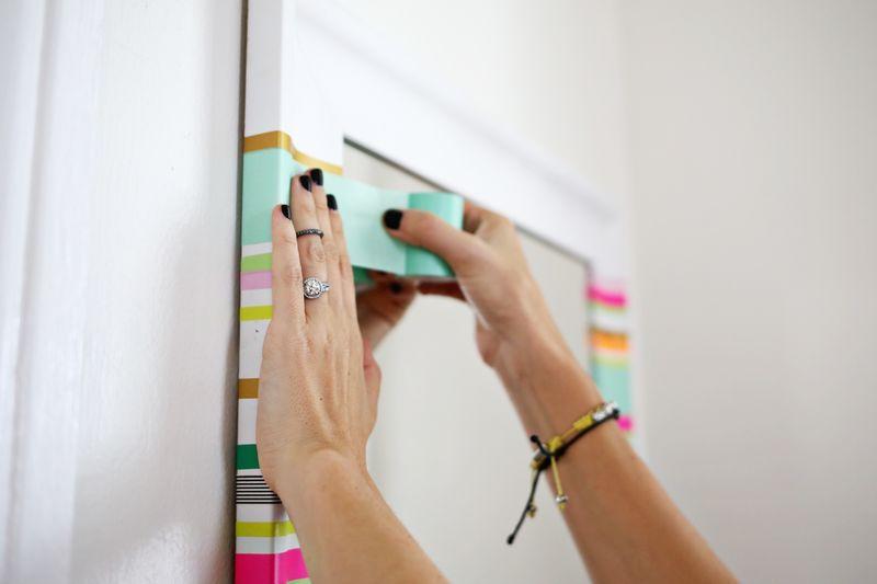 Try This Washi Tape Mirror Frame Com Imagens Ideias Para
