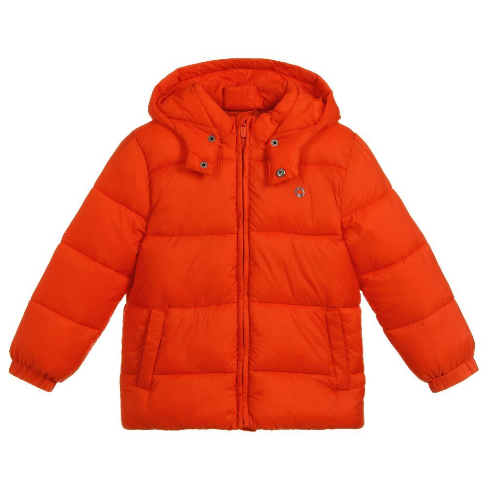 ae93ca78cc5f Boys Orange Padded Jacket for Boy by Mayoral. Discover the latest ...