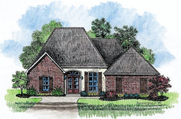 Country French House Plan : house-plans - Kabel House Plans: Raleigh ...