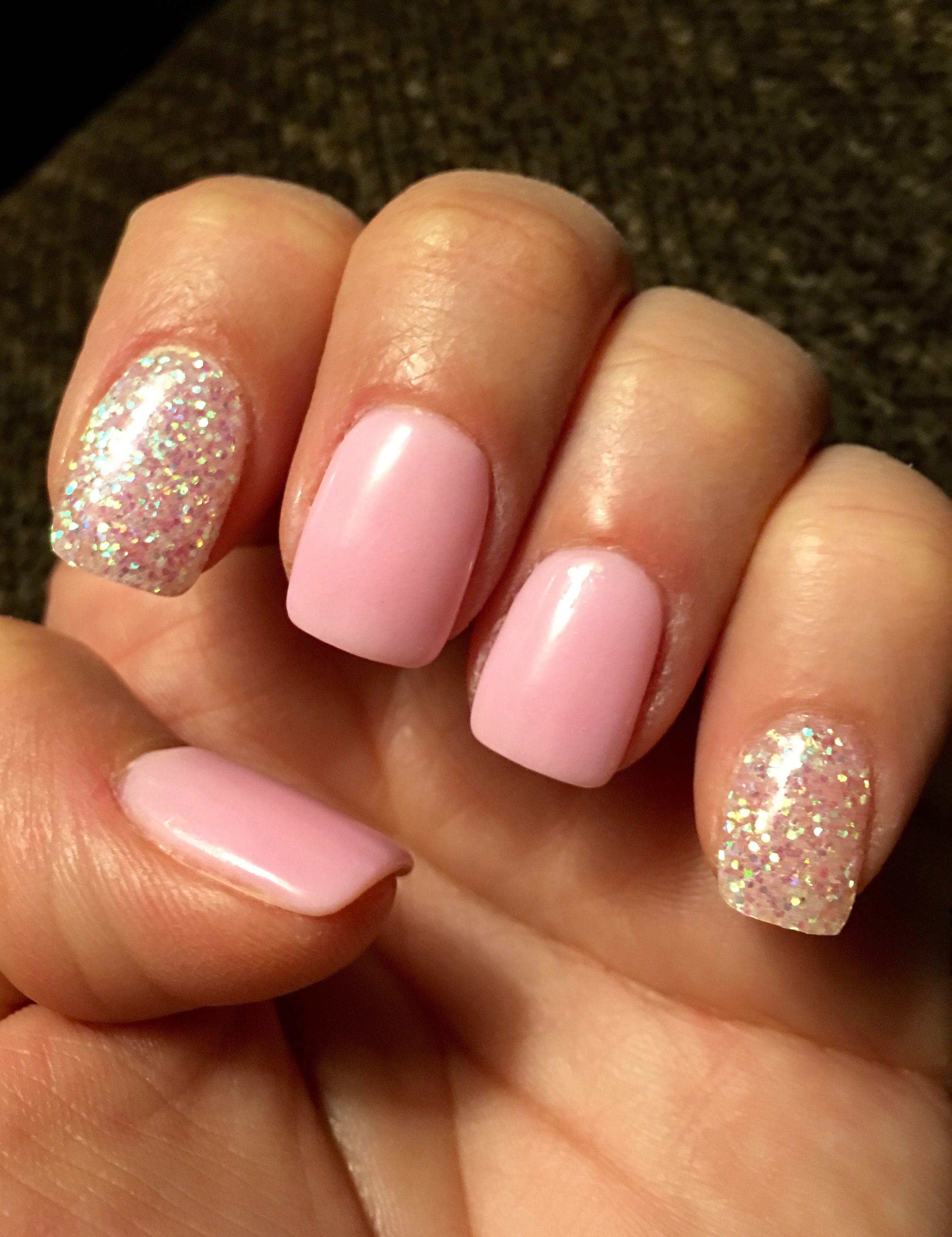 Pink Glitter Nexgen Nails Nexgen Nails Nails Dipped Nails