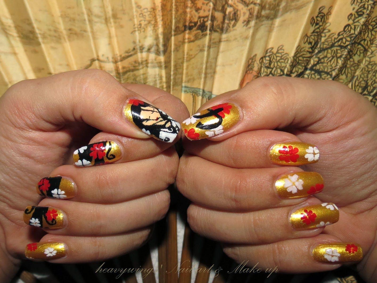 geisha Nail Art Tutorial | 力 - Power - Nail Art - Tutorial & Prodotti Utilizzati
