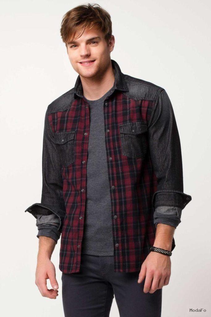 c3224656f23fa Siyah Erkek Ekoseli Trend Gömlek 347445 | DeFacto Denim Jeans, Iş Giysisi, Erkek  Giyim