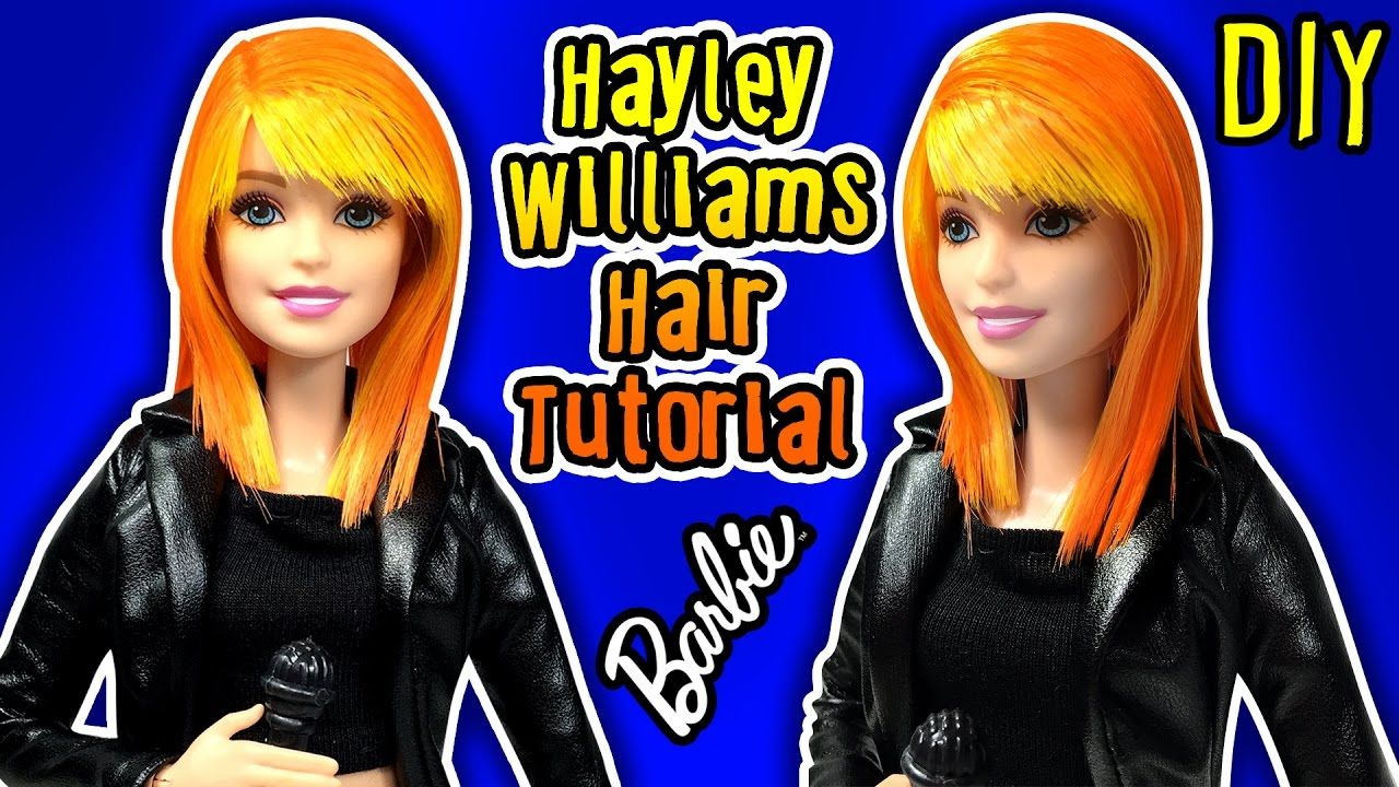 Barbie Hairstyles Pleasing Hayley Williams Hair Tutorial For Barbie Doll  Diy Barbie Haircut