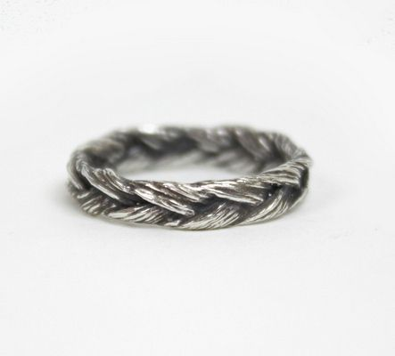Fabulous Silver Braided Grass Ring Engagement Rings That Don ut Suck