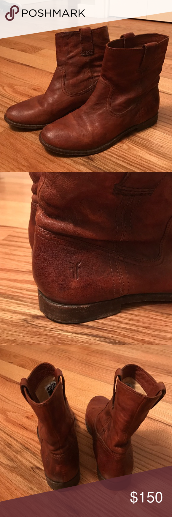 Frye Anna Shortie Bootie, Cognac Leather, Size 8 Frye Anna Shortie Bootie. Size 8. Cognac Leather. Gently worn 4-6 times. Frye Shoes Ankle Boots & Booties