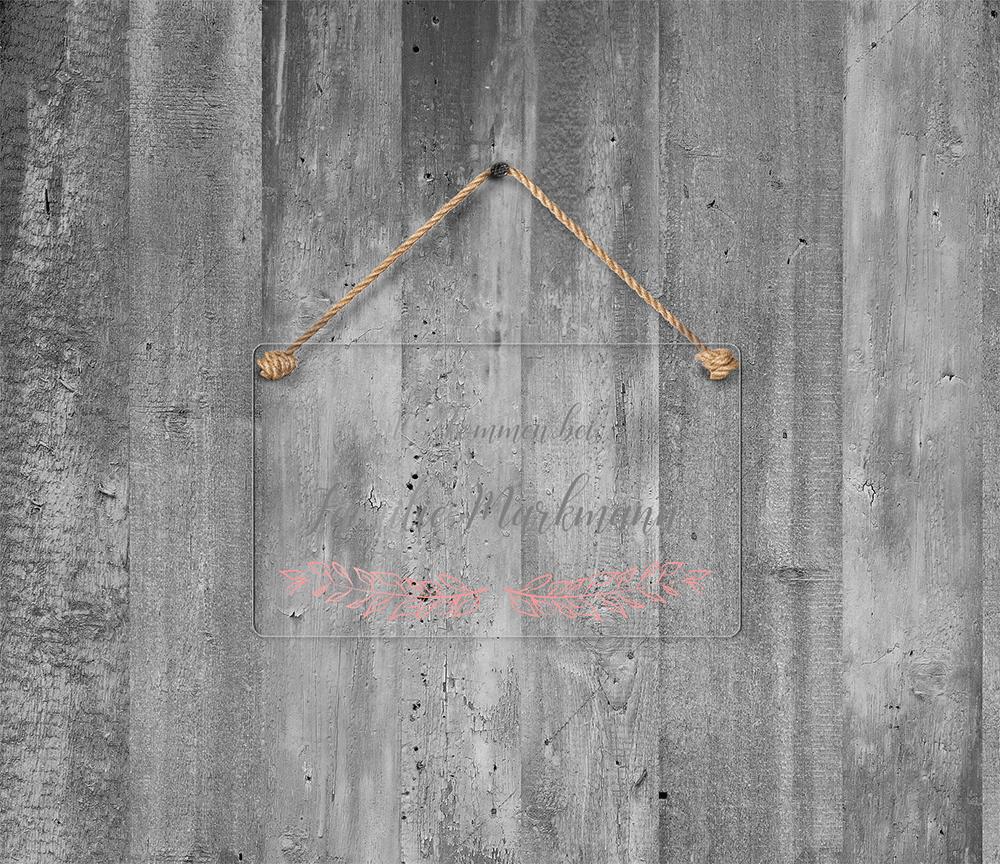 Namensschild Klingelschild individuelles Türschild Acryl 20x20 cm Hausnummer