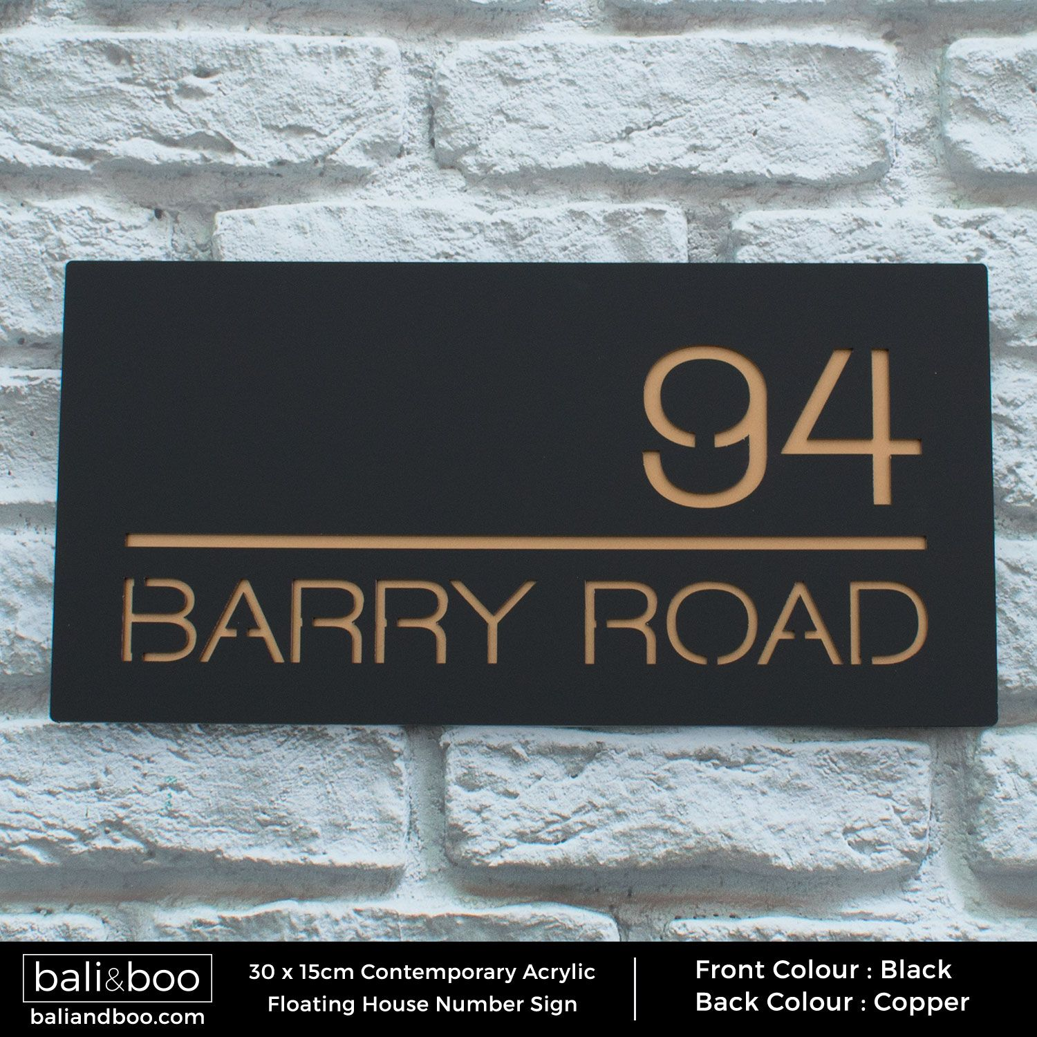 Sign Plaque Door Number Modern House