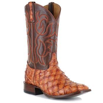 aa2e69e5bf7 Cody James® Men's Cognac Pirarucu Exotic Boots | Cowboy Boots ...