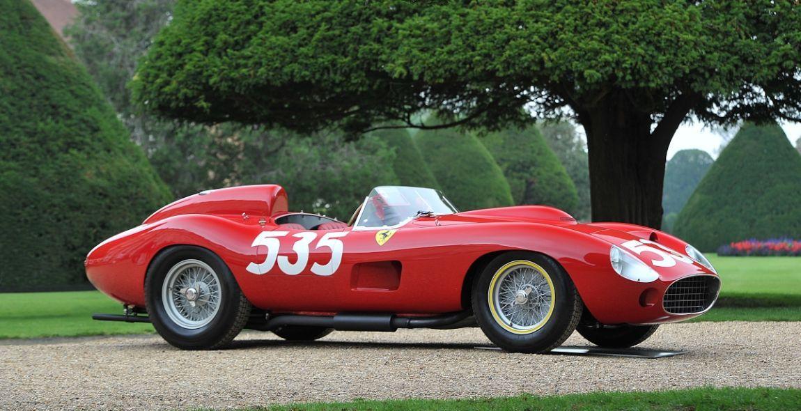 1957 Ferrari 315 S Scaglietti Spider, winner of the 1957 Mille ...