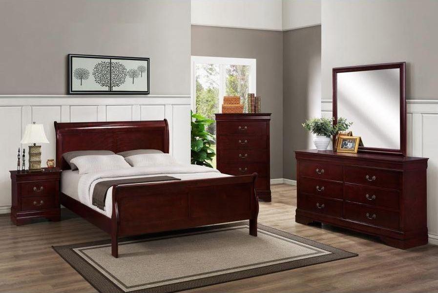 Wood Furniture Solid Wood Modern Bedroom Dark Furniture ...