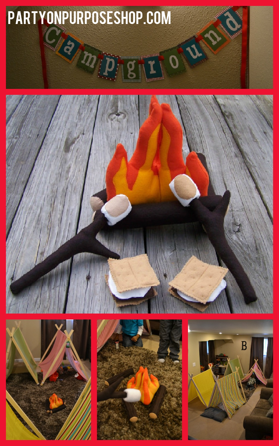Camping Party Decor Favors And Activites Campfire