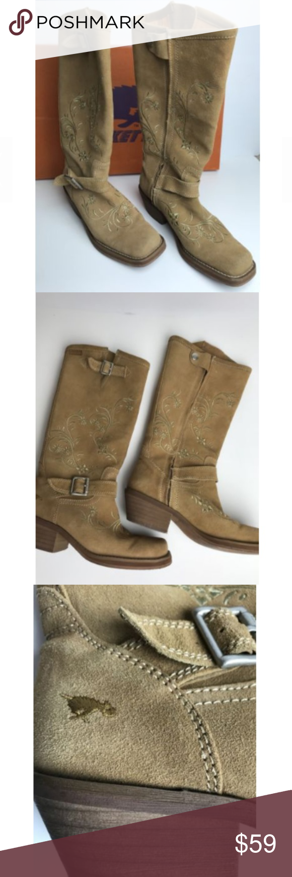 e18c6dde2e2 Rocket Dog Square Western Boots Rocket Dog Boots Womens Size 7.5 ...