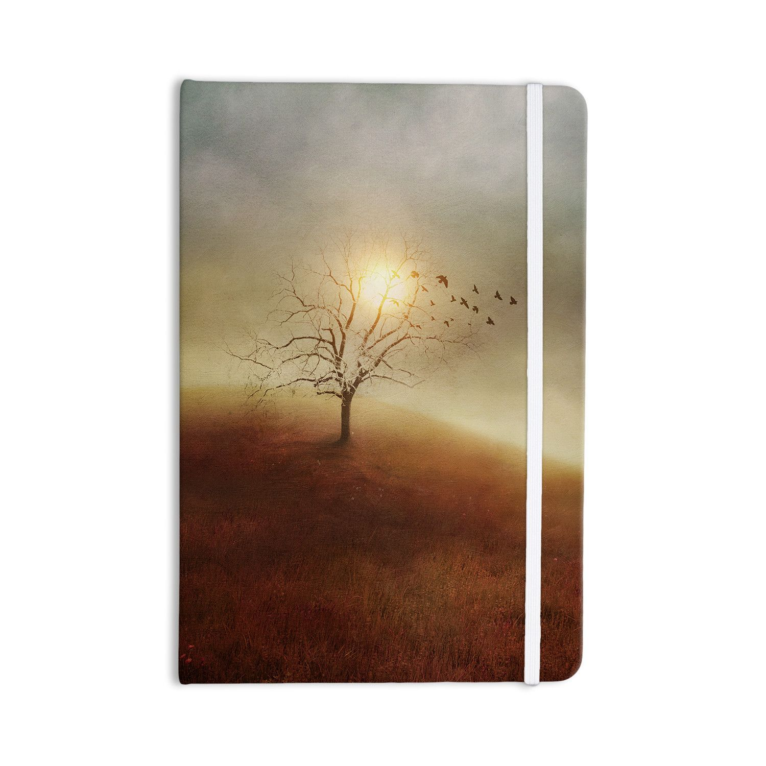 "Viviana Gonzalez ""Lone Tree Love I"" Orange Yellow Everything Notebook"