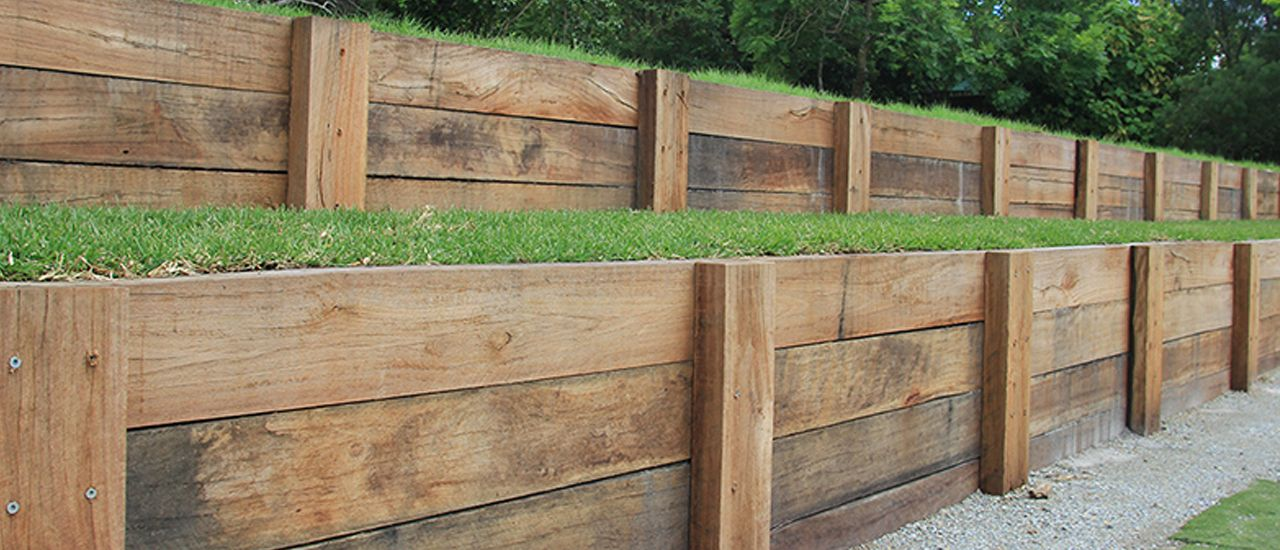 Timber Sleepers On The Gold Coast Backyard Retaining Walls Building A Retaining Wall Picnic Area