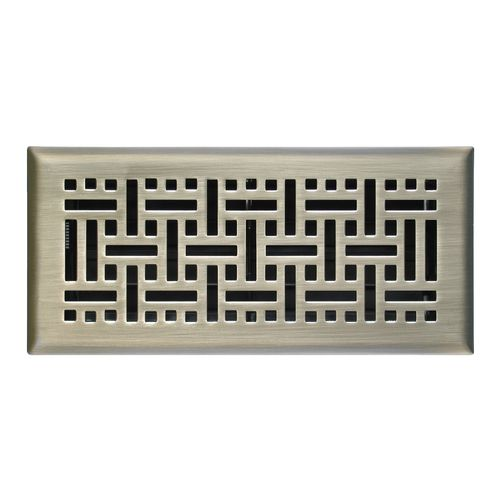 Shop Accord 6 W X 14 L Nickel Wicker Floor Register At Lowes Com Floor Registers Nickel Steel Flooring