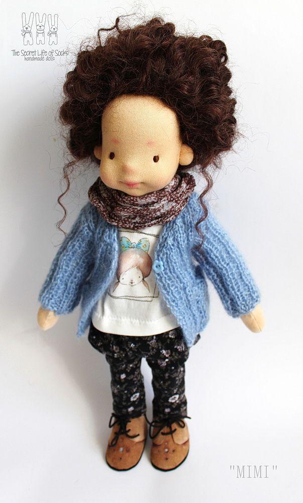 Waldorf Doll, MIMI, OOAK, Waldorf inspired doll, 16'' tall