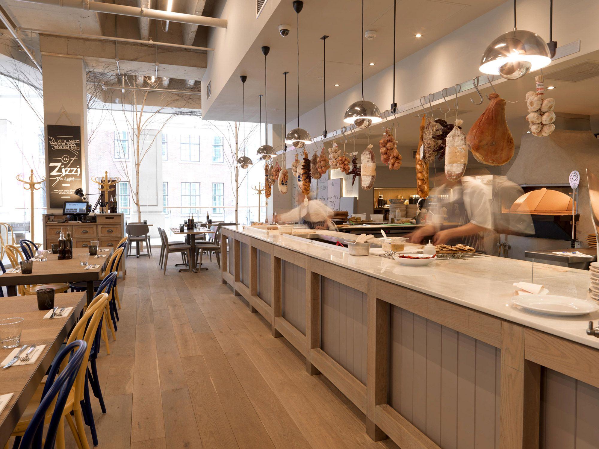 Zizzi leeds UK Expo kitchens Pinterest Italian restaurant