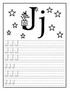 Letter J Worksheet For Kindergarten Preschool And St Grade  Letter J Worksheet For Preschool