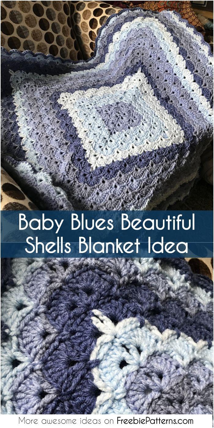 Free Pattern Beautiful Shells Blanket 1001 Crochet Ideas