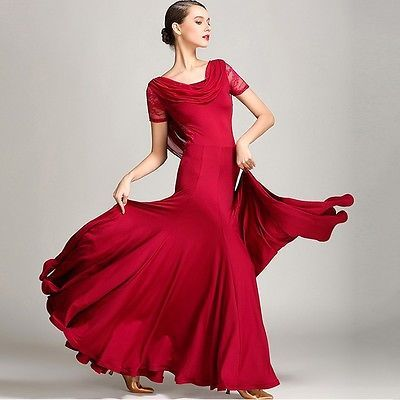 2019 Tango Waltz Modern Ballroom Dancewear expansion Dance Dress