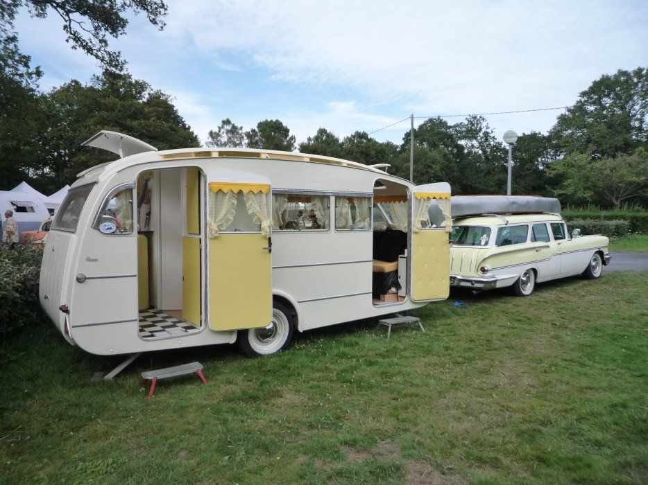 image yeoman koolkruiser caravane henon chevrolet 1958 bijzondere. Black Bedroom Furniture Sets. Home Design Ideas