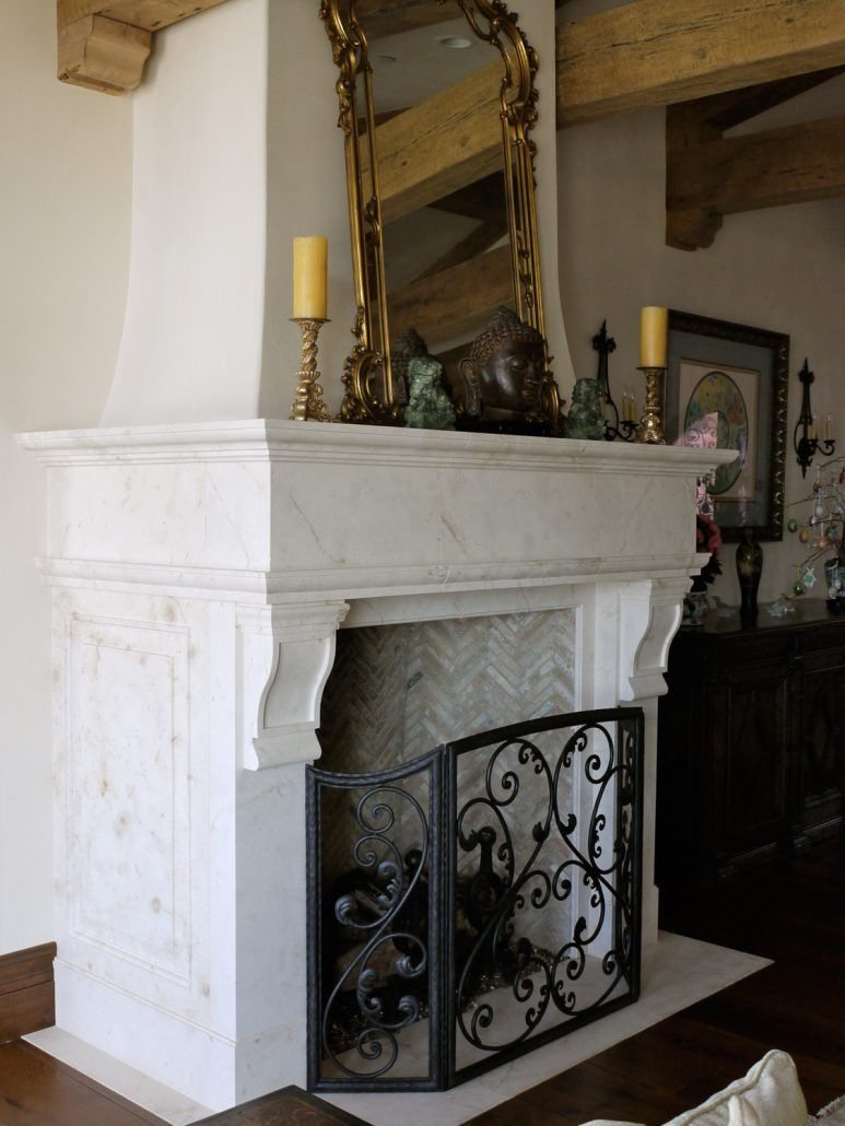 Italian & Tuscan Stone Fireplace Mantels - BT Architectural Stone ...