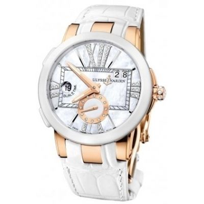 LADIES ULYSSE NARDIN EXECUTIVE DUAL TIME LADY ROSE GOLD WATCH - Cheap Watch Prices Online
