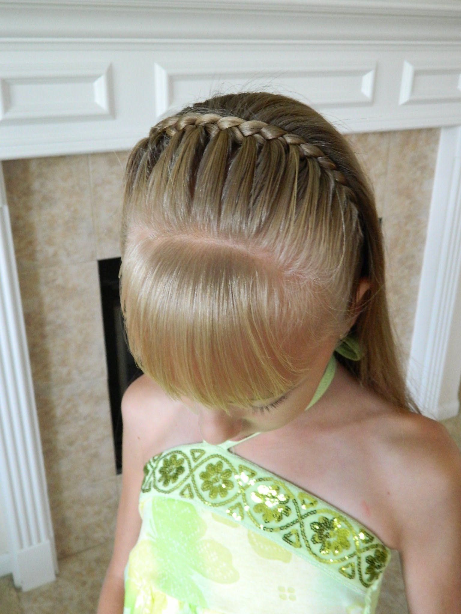 peinado para nias bincha de trenza
