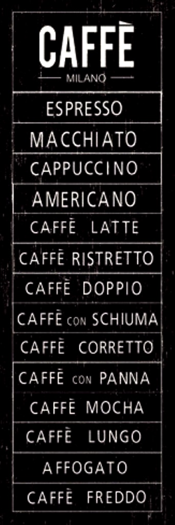 coffee Caffè café chalkboard menu wwwallposters\/-sp\/Caffe - coffee menu