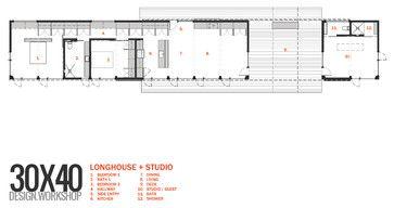 Longhouse Dogtrot Studio Modern Floor Plan Other Metro Eric Reinholdt Architect Modern Floor Plans House Plans Mountain House Plans
