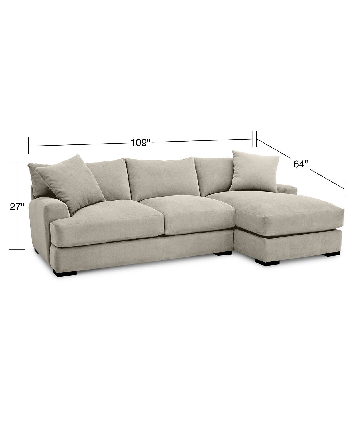 Furniture Rhyder 2 Pc Fabric Sectional Sofa With Chaise Created For Macy S Reviews Furniture Macy S Sectional Sofa With Chaise Fabric Sectional Sofas Couch With Chaise