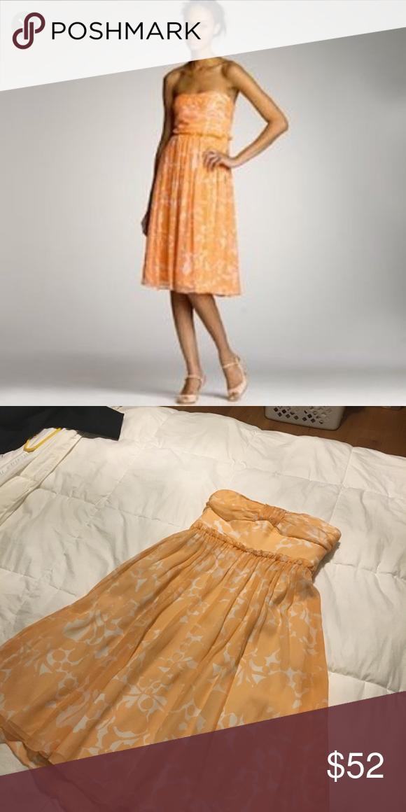 J Crew Whitney Dress Size 2 Cantaloupe Color