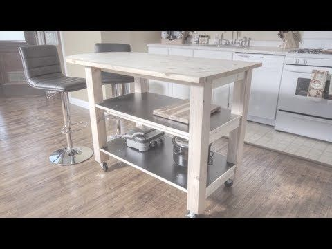 "How To Build A Kitchen Island On Wheels  Making A House ""home New Kitchen Island On Casters Review"