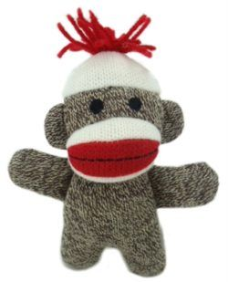 2 Dog Toy Baby Sock Monkey Kiki Give Your Dog A Best Friend In