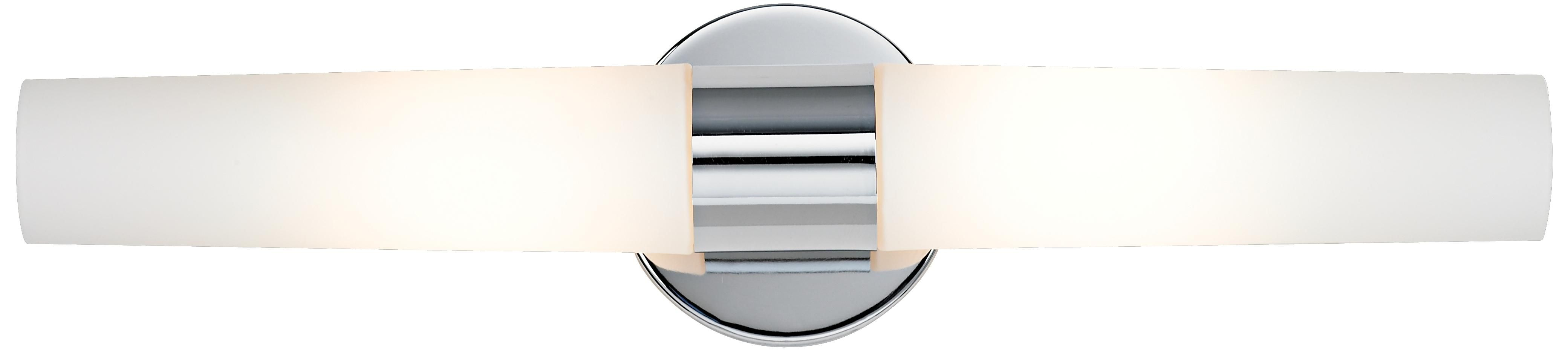 """George Kovacs Chrome 20"""" Wide Bathroom Light Fixture - polished chrome; LED; to be installed vertically"""