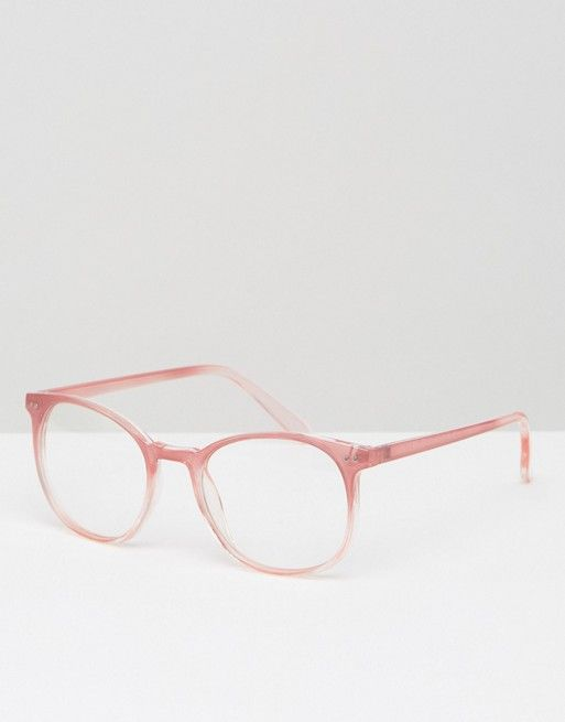 Geeky Round Clear Lens Glasses in Pink | Accessories | Pinterest ...