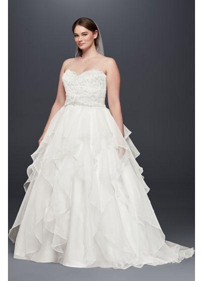 Long Ballgown Formal Wedding Dress - David\'s Bridal Collection ...
