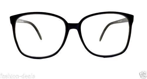 0b459b38ec Retro Vintage Huge Big Oversized Square Black Frame Women Men Eyeglasses  Glasses