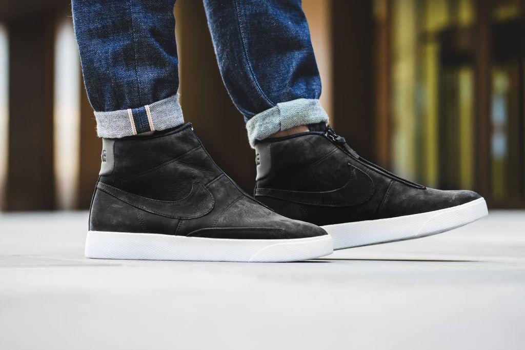 Nike Blazer Advanced laceless black white