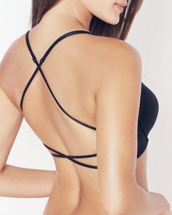 2b2ff14ce695cb criss cross open back bra - cute under backless top or dress ...