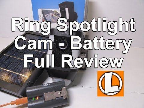 Ring Spotlight Cam Battery Review + Solar Panel Unboxing