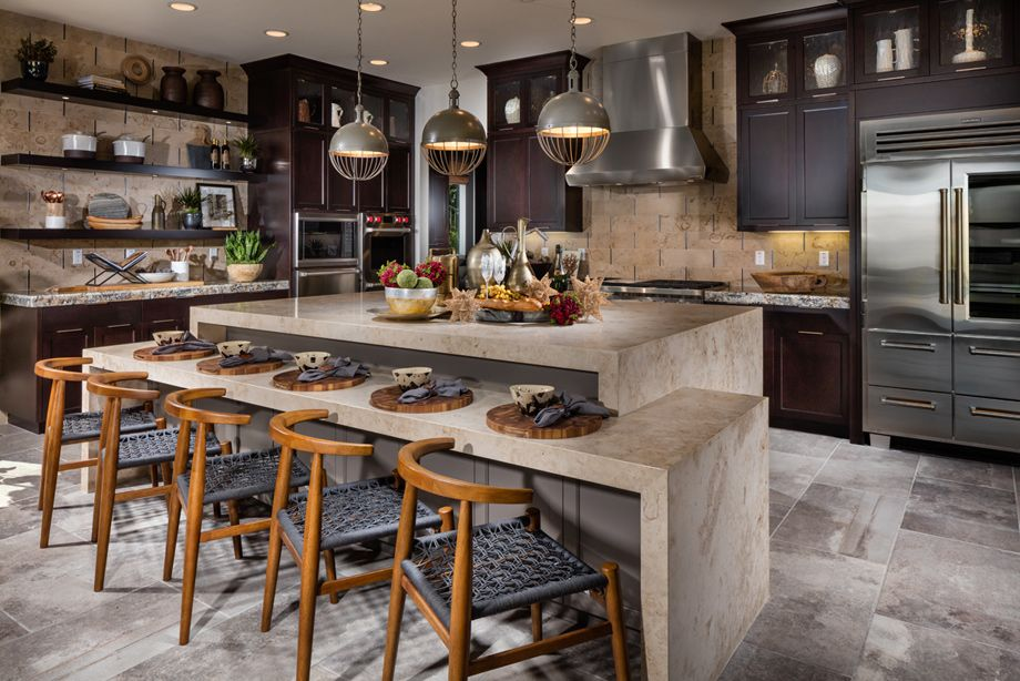Toll Brothers - Open Concept Gourmet Kitchen with Large ...